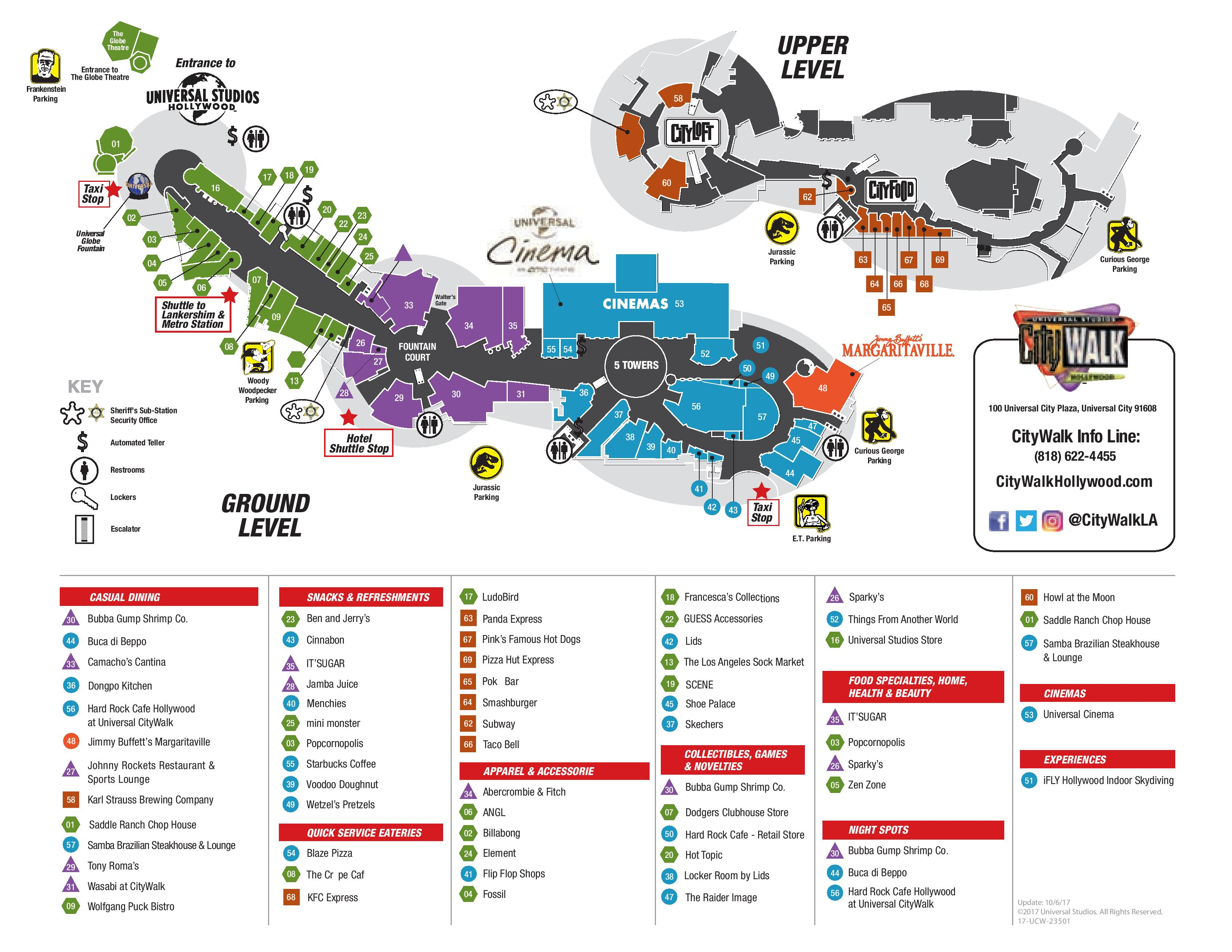 map. visitor map  citywalk hollywood