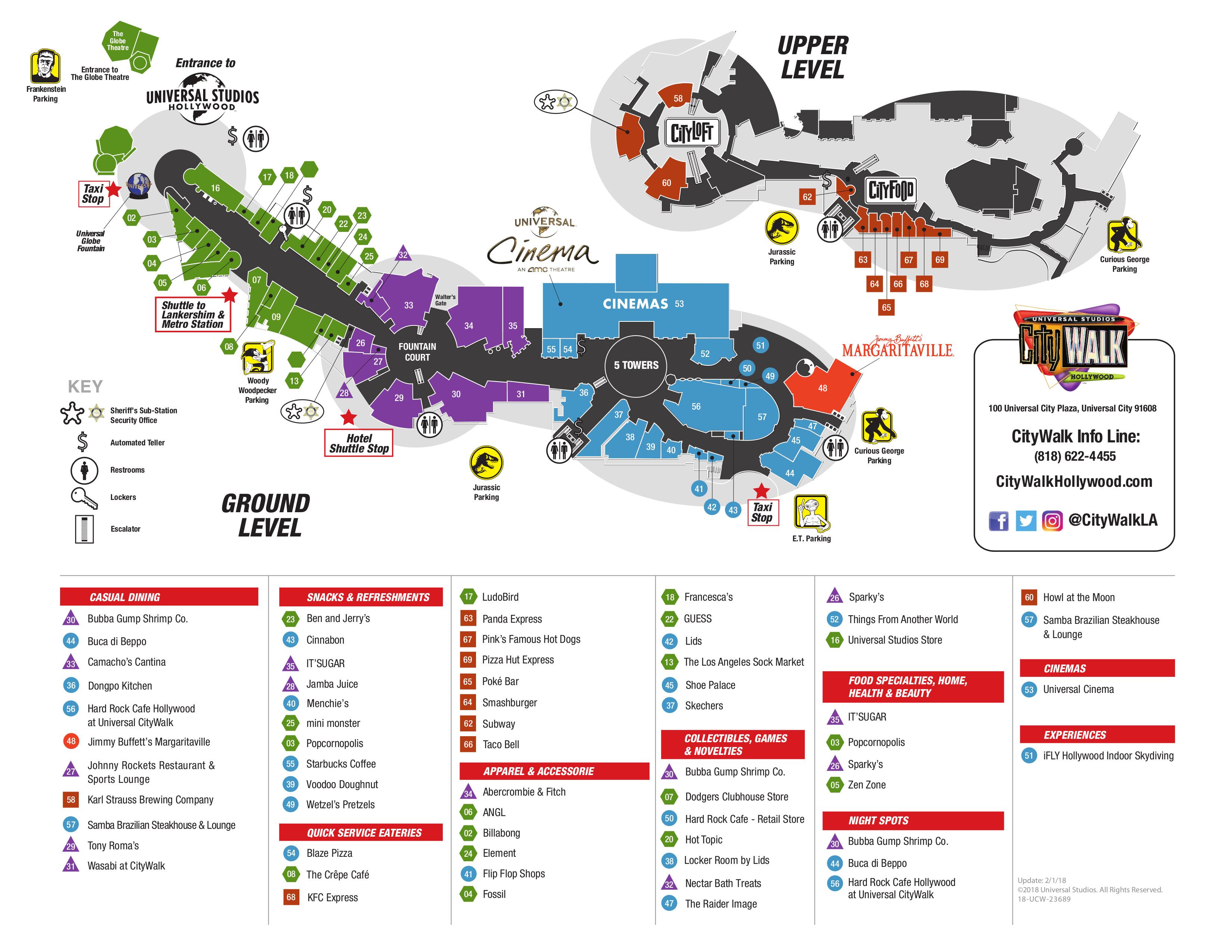 Universal City Walk Map | compressportnederland on