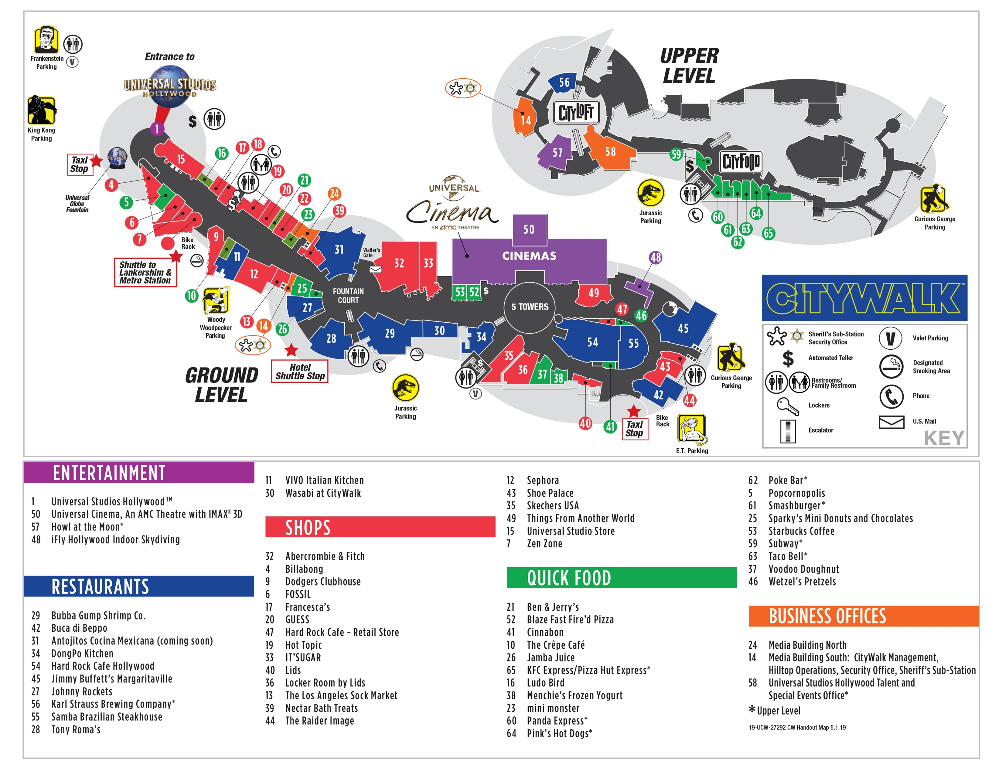 Visitor Map | CityWalk Hollywood on